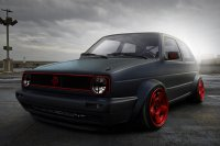 vw golf tuning black-red